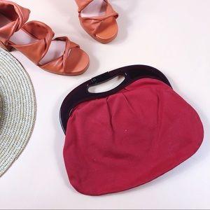 Vtg 60s Fabric Handbag
